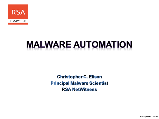 Malware Automation and How To Protect Against It