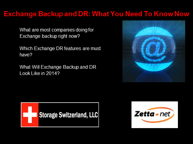 Exchange Backup and DR: What You Need To Know Now
