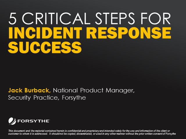5 Critical Steps for Incident Response Success