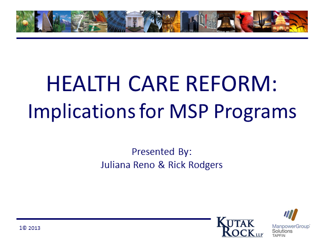 Health Care Reform: Implications for MSP Programs