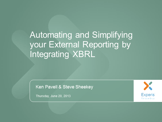 Automate & Simplify External Reporting