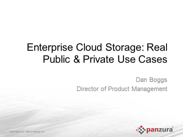 Enterprise Cloud Storage: Real Public and Private Use Cases