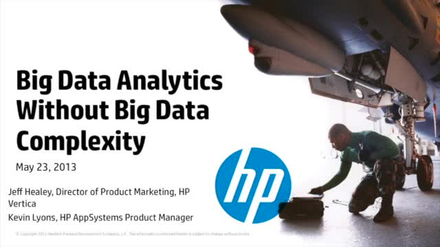 Big Data Analytics without Big Data Complexity