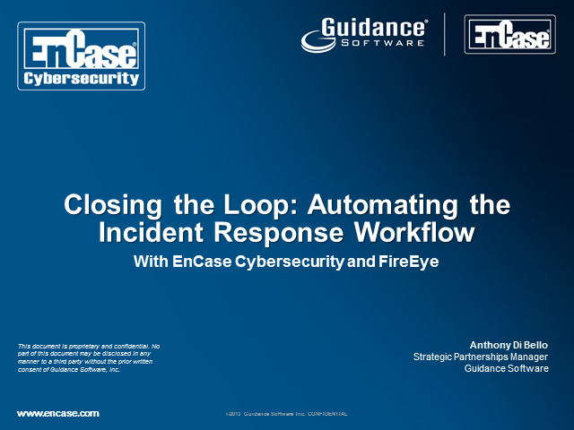 Closing the Loop: Automating Security Response