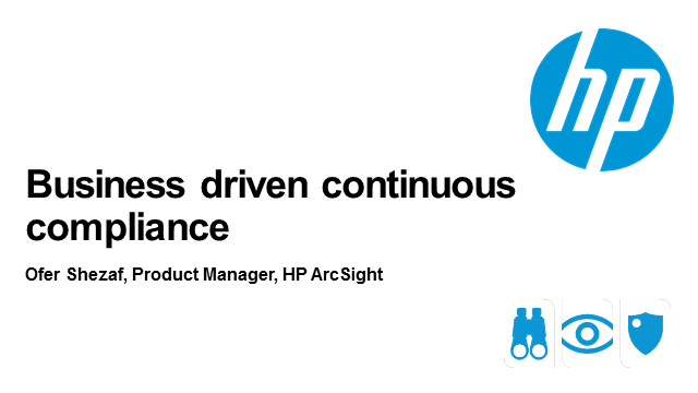 Business Driven Continuous Compliance