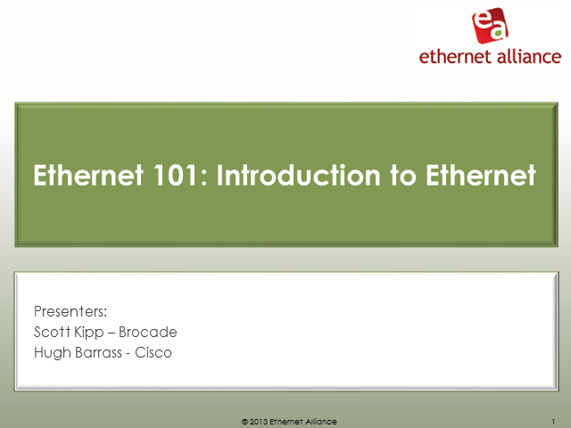 Ethernet 101: Introduction to Ethernet