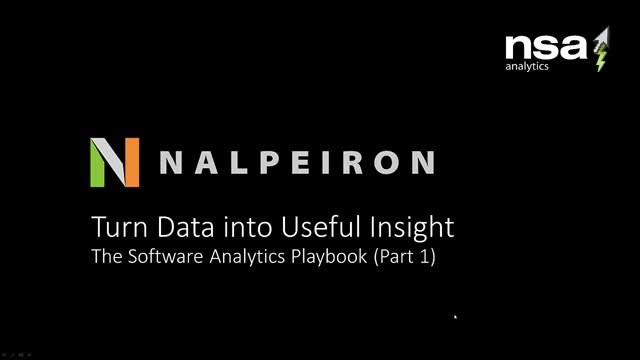 Turn Data into Useful Insight - the Software Analytics Playbook (1)