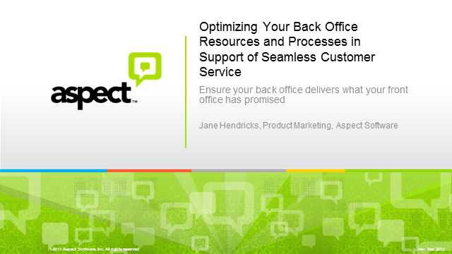 Optimizing Back Office Resources & Processes in Customer Support