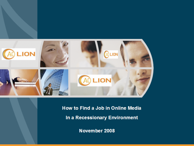 How to Find the Right Job in Online Media