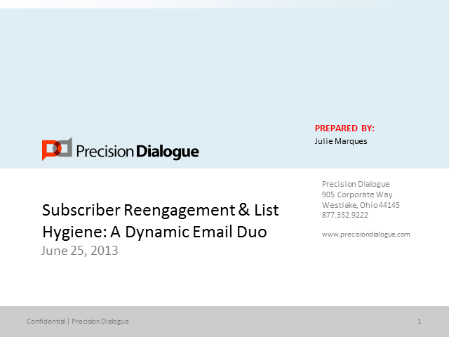 Subscriber Reengagement & List Hygiene: A Dynamic Email Duo