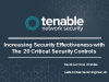 Increase Security Effectiveness with the 20 Critical Security Controls