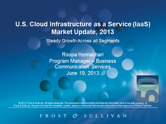 Cloud Infrastructure as a Service Market Update