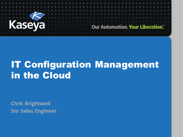 Corporate IT Series: IT Configuration Management in the Cloud made easy
