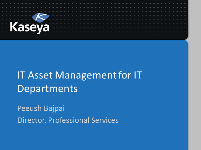 Corporate IT Series: IT Asset Management in the Cloud for IT Departments