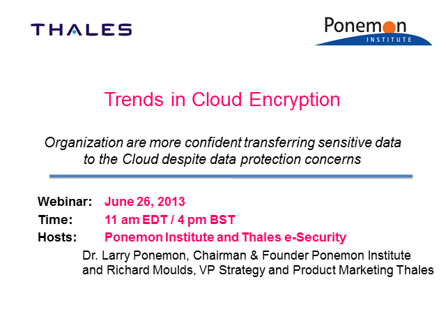 Trends in Cloud Encryption