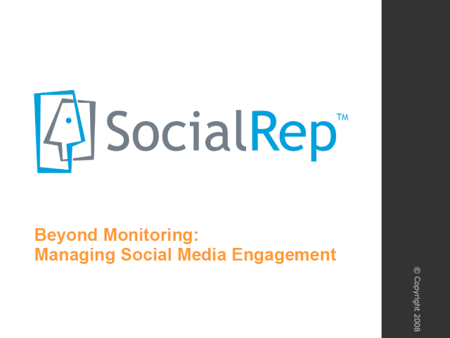 Beyond Monitoring: Managing Social Media Engagement