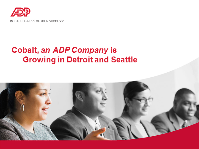 Cobalt, an ADP company, is hiring Software Engineers in Seattle and Detroit