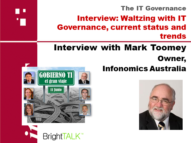 Interview: Waltzing with IT Governance, current status and trends