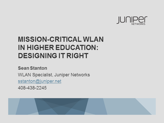 Mission-Critical WLAN in Higher Education: Designing It Right