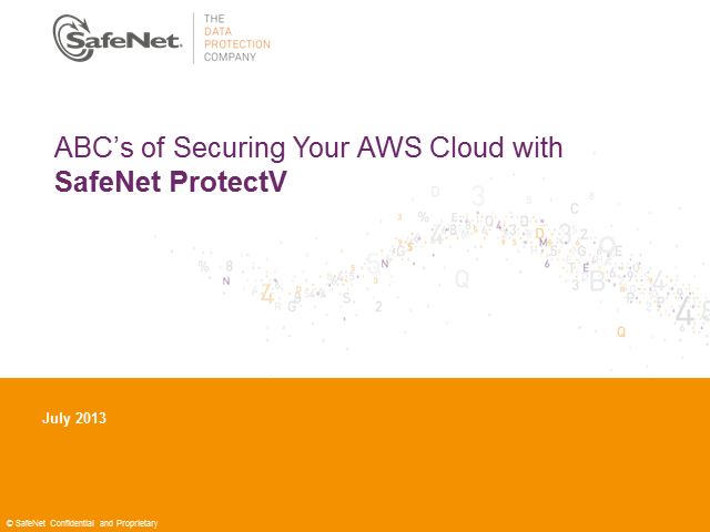 ABC's of Securing Your AWS Cloud