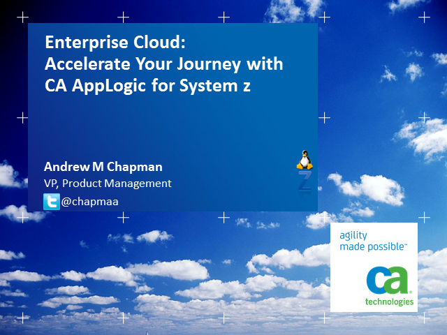 zCloud Breakthrough: Reach beyond the Mist and Accelerate Your Journey