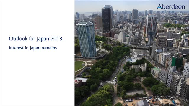 Outlook for Japan 2013
