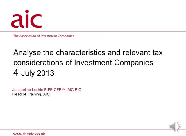 Analyse the Characteristics and Relevant Tax Considerations