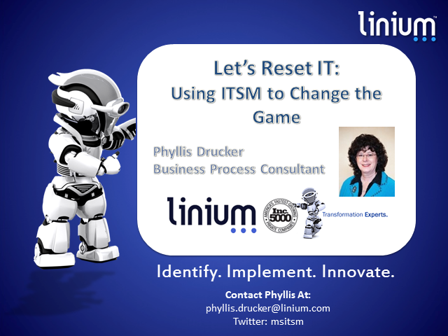 Let's Reset IT: Using ITSM to Change the Game