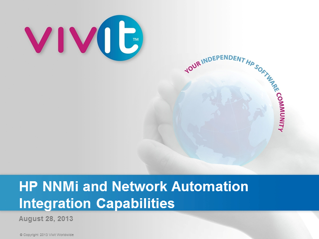 HP NNMi and Network Automation Integration Capabilities
