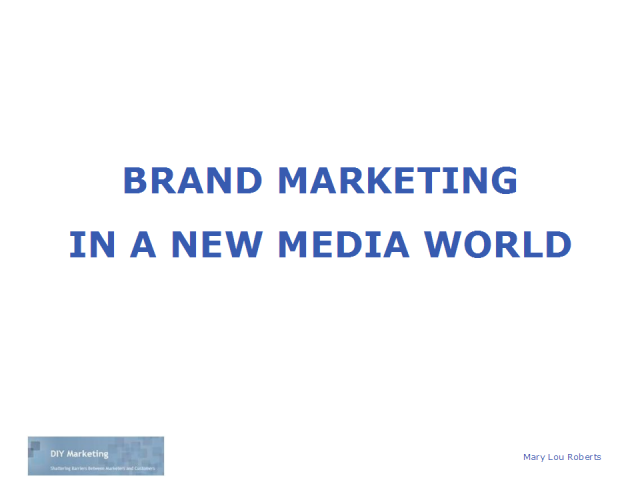 Brand Marketing in New Media