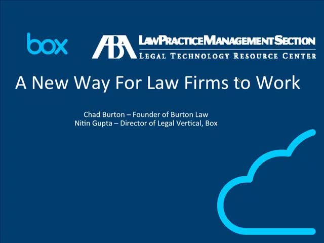 A New Way to Work for Law Firms