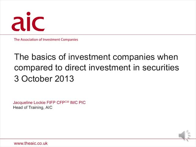 Understanding investment companies and how they compare to direct equities