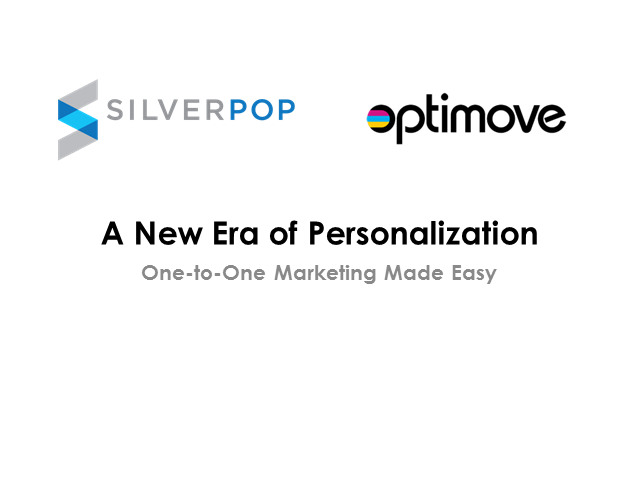 A New Era of Personalisation: 1-to-1 marketing