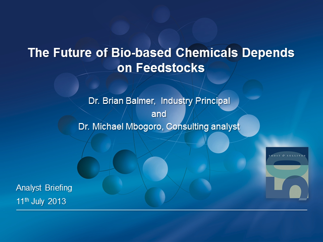 The Future of Bio-Based Chemicals Depends on Feedstocks