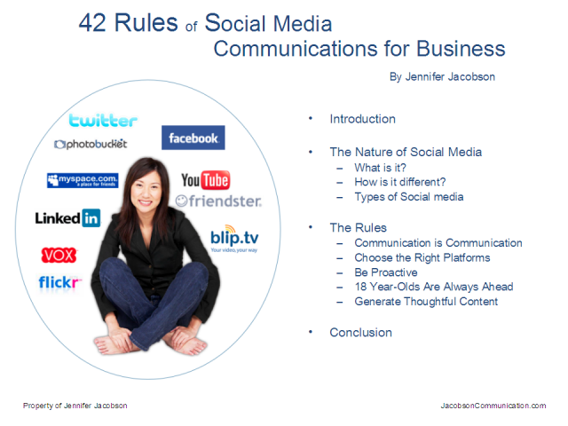 42 Rules of Social Networking for Businesses