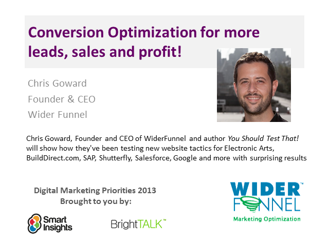 Conversion Optimization for more leads, sales and profit.