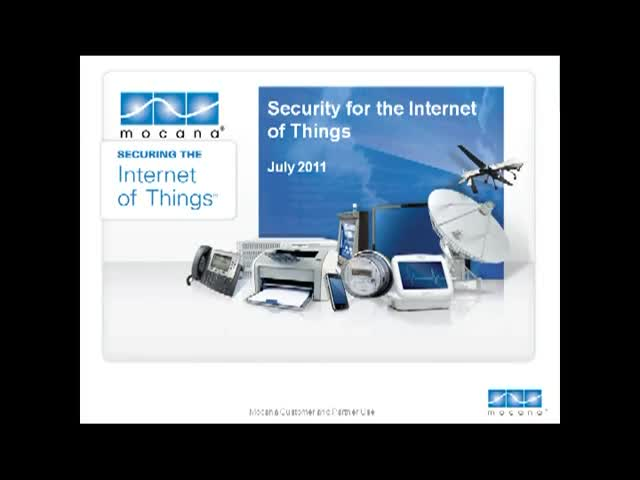 Security for the Internet of Things