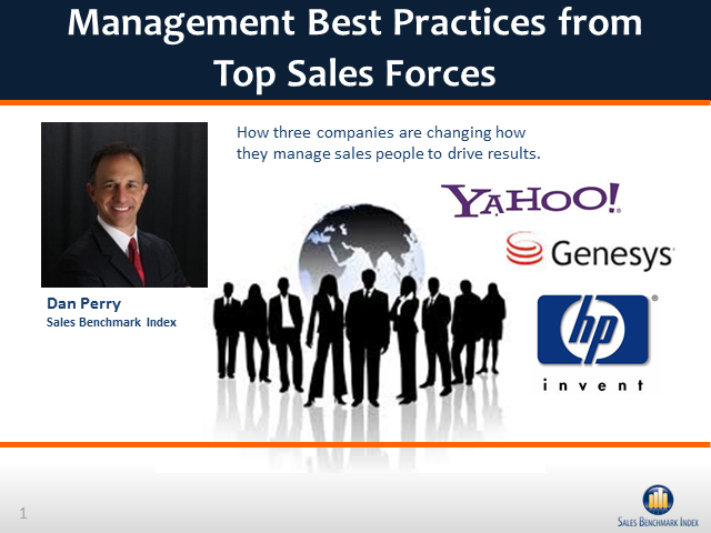 Management Best Practices from Top Sales Forces