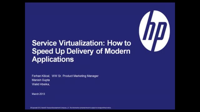 Service Virtualization: How to Speed Up Delivery of Modern Applications