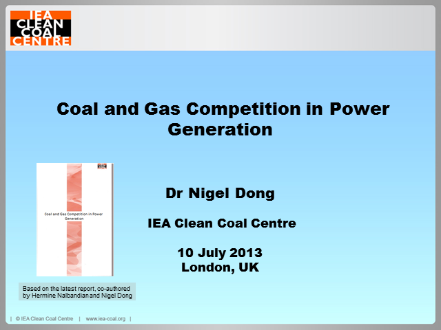 Coal and gas competition in power generation