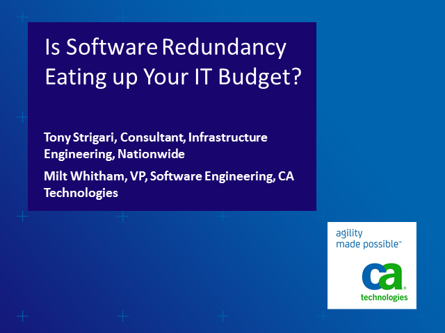 Is Software Redundancy Eating up Your IT Budget?