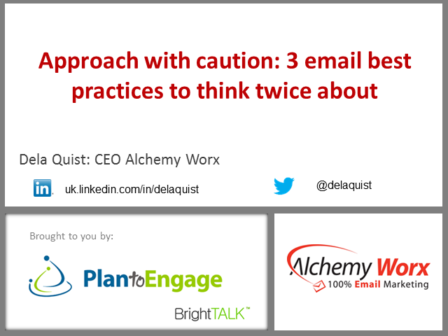 Approach with caution: 3 email best practices to think twice about