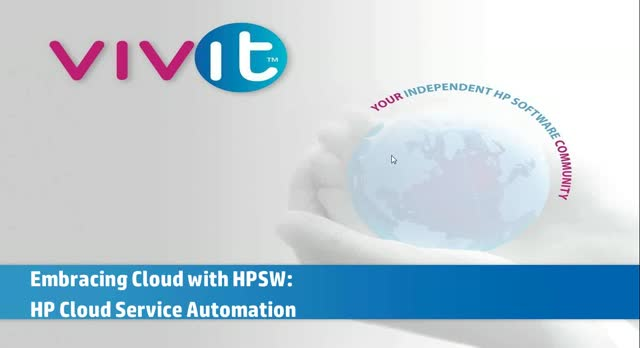 Embracing Cloud with HP Software