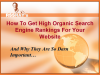 How To Get High Organic Search Engine Rankings