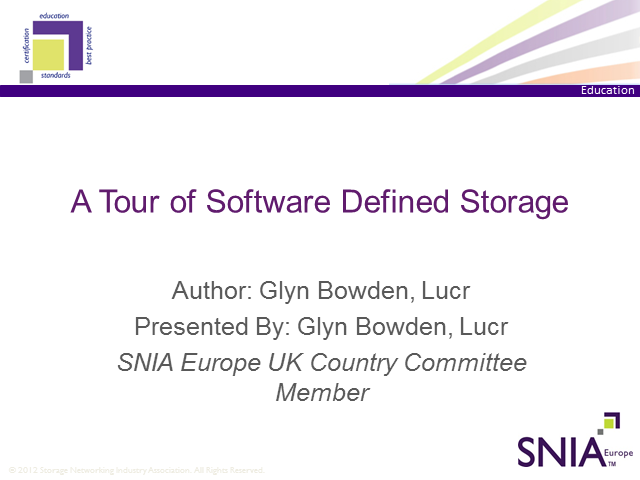 A Tour of Software-Defined Storage