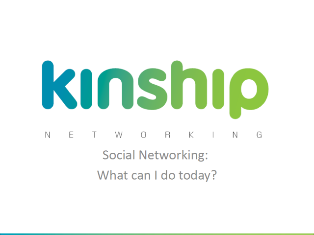 Social Networking: What can I do today?