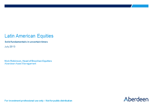 Latin American Equities Q2 Results 2013