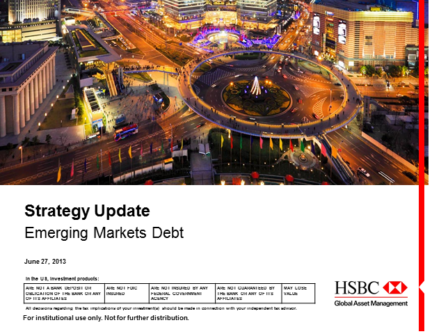Emerging Markets Debt Strategy Update