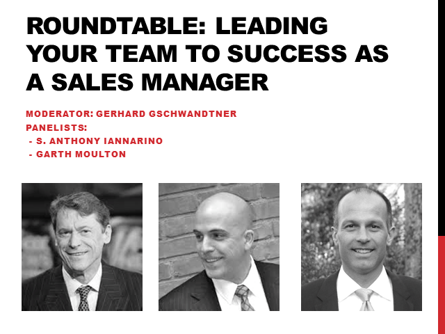 Roundtable: Leading Your Team to Success as a Sales Manager