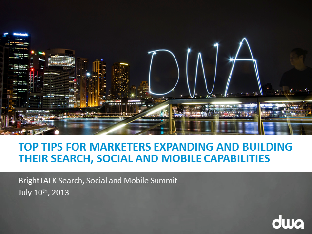Top Tips for Marketers Expanding & Building their PPC & Search Strategy